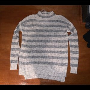 NWT American eagle stripe sweater grey beige
